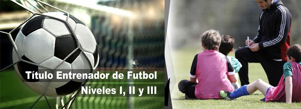 Titulo de entrenador deportivo fútbol nivel 1 y 2